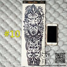 "SHNAPIGN ""Maya Totem"" Full Manica Del Braccio Temporaneo Body Art, Flash Tattoo Adesivi 48*17 cm Impermeabile Adulto Prodotti Del Sesso Henné(China)"