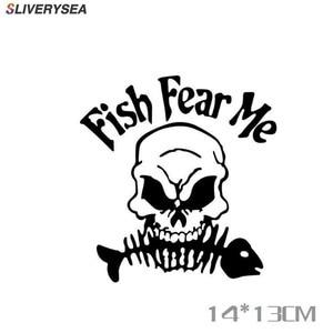 Image 1 - SLIVERYSEA スケルトン魚釣り車のステッカー反射車のステッカー釣りボックスデコレーションステッカー