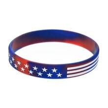 Obh 1 шт силиконовый браслет с американским флагом тонкая линия