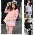 2pcs/set Maternity Women Loose work clothing set Autumn Spring for pregnant Plus size pregnancy ladies clothes sport suit