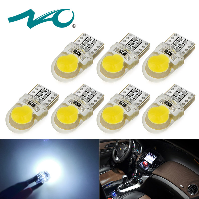 T10 LED w5w car led t10 w5w 12V car accessories w5w led car interior light white yellow COB bulb car styling light Lamp 7pcs NAO shoes and more сандалии