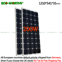 2 шт. 100 Вт 18 в монокристаллическая солнечная панель для 12 В батареи, домашняя солнечная мощность и Бесплатная доставка Солнечная панель сото