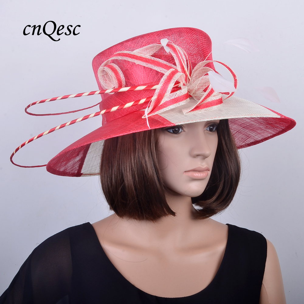 Aliexpress.com: Comprar Ala grande Plum organza púrpura sombrero ...