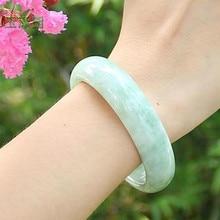 Высококачественный светильник, зеленый браслет, класс А, чистый браслет, камень для женщин, подарок для мамы, ювелирные изделия нефрита