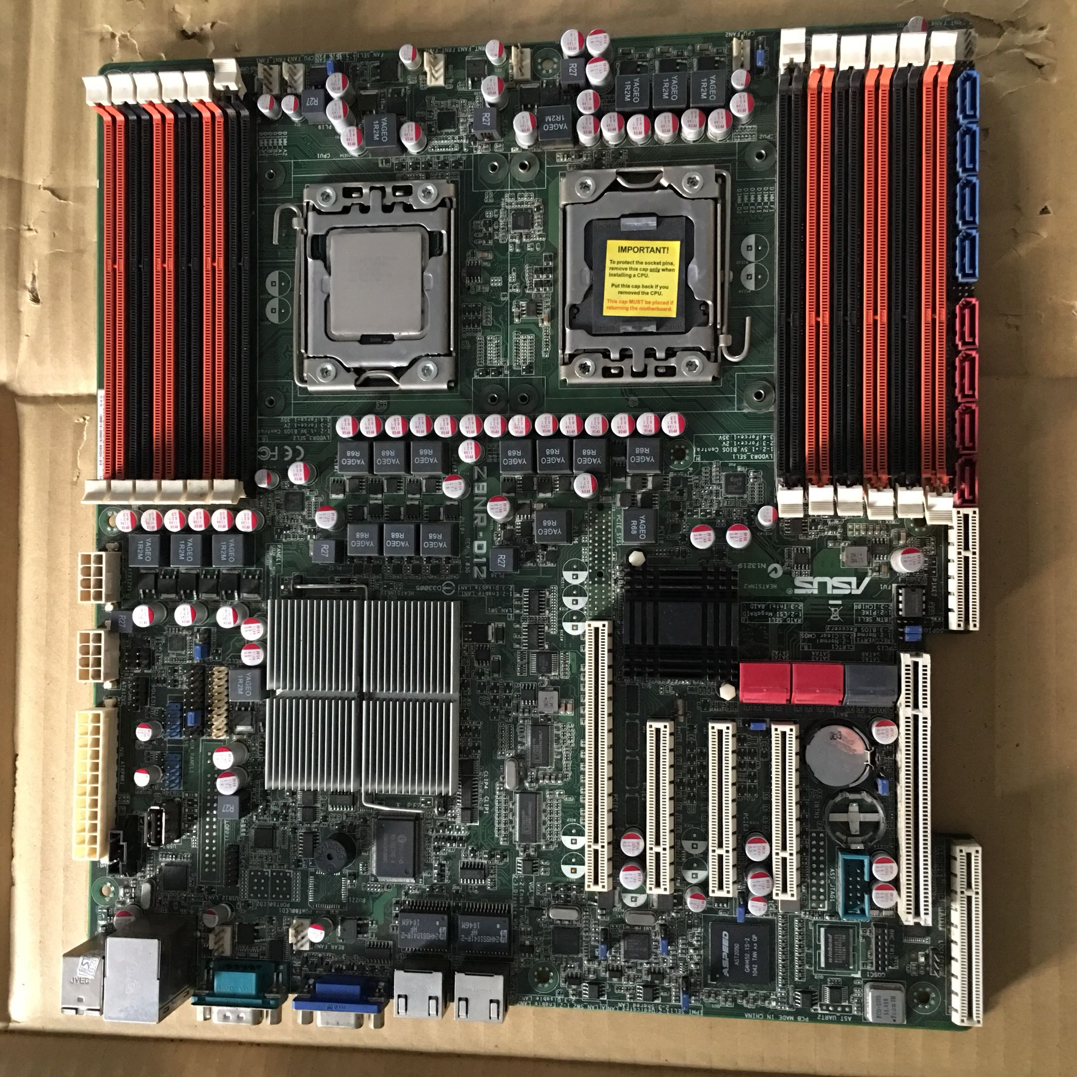 Z8NR-D12 1366 X58 Server Motherboard Supports X5675