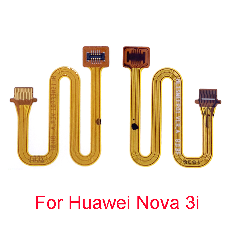 Home Button Fingerprint Flex Cable Recognition Sensor Touch ID Connector Cable For Huawei Nova 3i Connect Ribbon