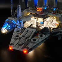 New designed LED light kit (only light ) for 75105 Compatible with 05007 Millennium Falcon Space Ship 10467