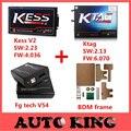 Nova Kess V2 OBD2 Gerente de 4.036 V2.23 + ECU Programador Ktag K-TAG 2.13 FW6.070-tag K + Fgtech Galletto 4 Master v54 + Adaptador Da Estrutura BDM