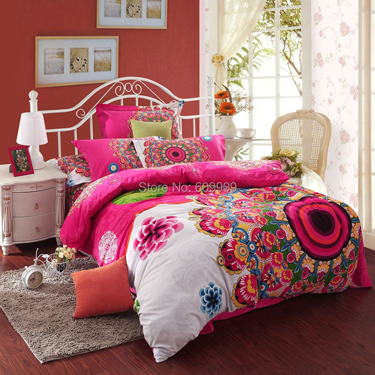 Bohemian Bedding Set Boho Style Moroccan Bed Duvet Cover 100 Brushed Cotton 004 In Sets From Home Garden On Aliexpress