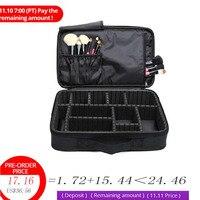 Beautician Professional makeup Bag Cosmetic bag Waterproof Multi grid Make up Cases Kosmetiktasche women suitcase Cosmetic bags