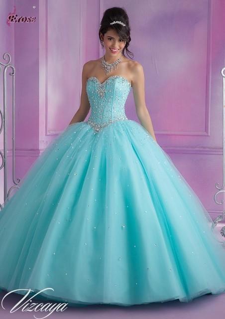 Melhor 2017 vestido de Baile Querida Tulle Frisados Cristais Destacável Saias Céu Cor de Rosa Turquesa Vestidos Quinceanera Com Jacket