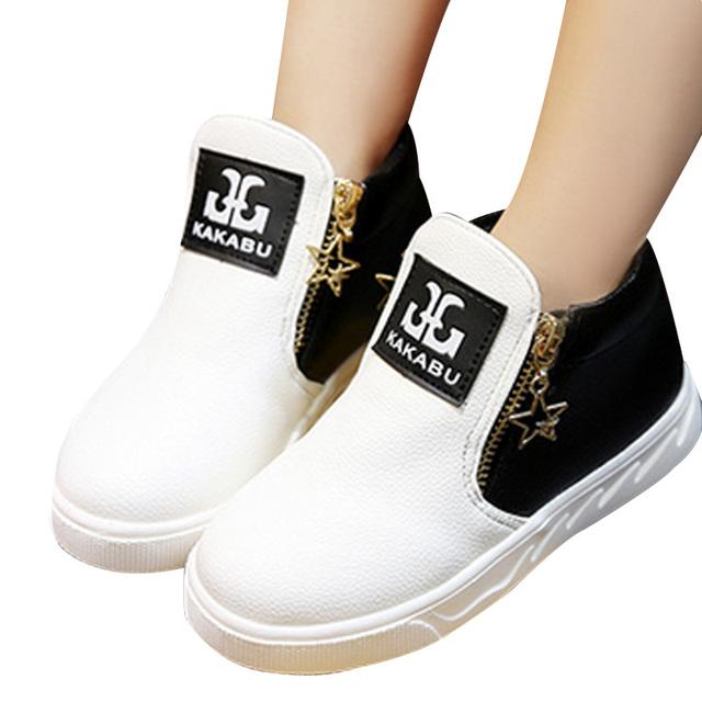 2017 nuevos niños shoes niños niñas moda martin botas individuales bajo corta niños bebés niñas niños otoño shoes 4 color YY0521