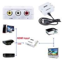 Новые 1080 P Mini HDMI К AV Video Converter кабель RCA аналоговый аудио/видео композитный CVBS Поддержка NTSC/ pal для ТВ/VHS/VCR/DVD