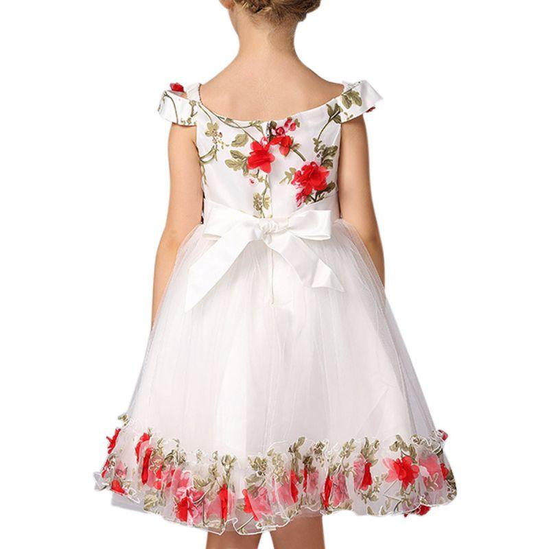 2018 Children Princess Dress European and American Floral Evening Performance Dress S2