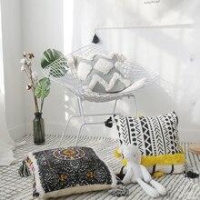 Morocco Hand-embroidered Pillow Cover Living Room Decor Tufted Tassel Bedside Cojines Decorativos Para Sofa Cushion Cover цена в Москве и Питере
