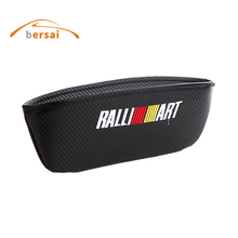 carbon fiber Seat Crevice Storage Box Bag car styling JMD for RALLIART Mitsubishi Lancer Asx Outlander Pajero Auto accessories