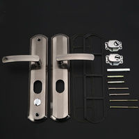 1set! Universal Security Door Handle Simple Washroom Door Lock Interior Door Handle Lock Bathroom Toilet Lock Furniture Hardware