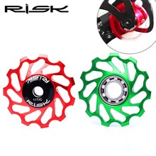 RISK Mtb Bike Rear derailleur Pulleys 11T Ceramic Bearings jockey Wheels For SHIMANO and SRAM цена в Москве и Питере