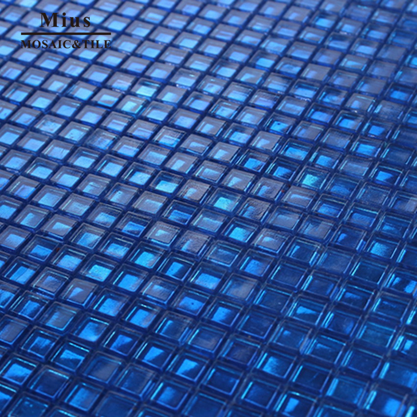 Ocean blue glass mosaic for swimming pool