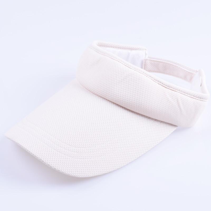 Козырек шляпа летняя женская Солнцезащитная брендовая бейсбольные кепки регулируемый размер Viseira пляжная кепка LQH002 - Цвет: Бежевый