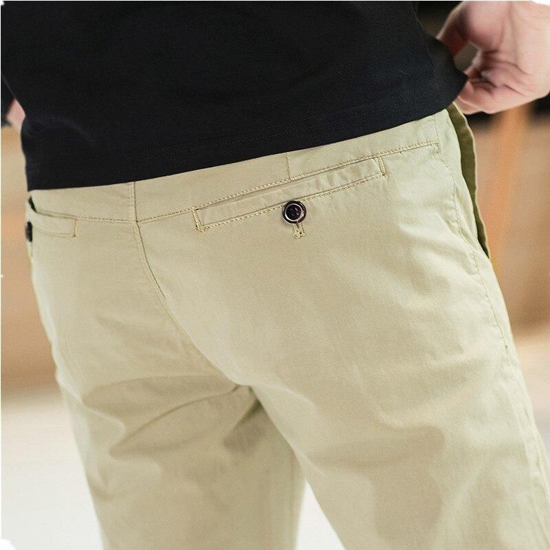 Мужские повседневные брюки 2019 Весна Новые прямые простой узкая нога свободные штаны Европейский Стиль подходит для вечерние работа путешествия знакомства - 5