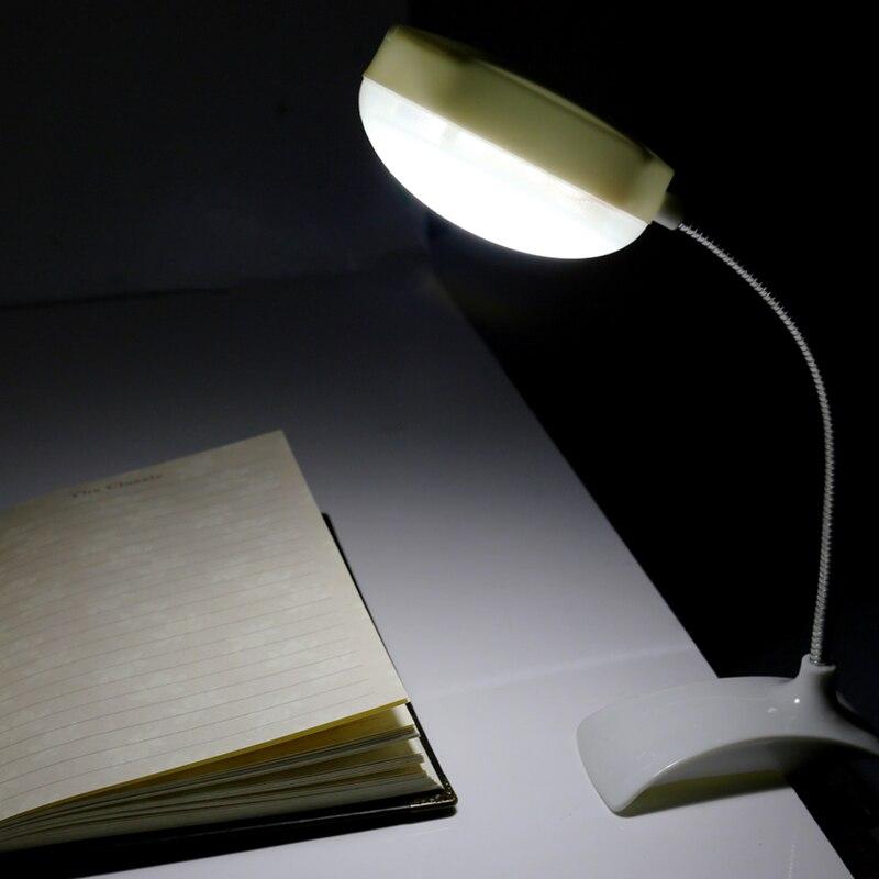 Гибкий Clip-on Настольный светильник светодиодный зажим чтение Исследование кровать ноутбука, Рабочий стол яркий свет ...