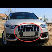35 37 PCS DIY Car Styling NEW Stainless Steel Front Grille Light Strip Cover Case Stickers