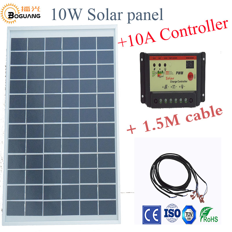 boguang1x 10W polycrystalline solar panel module cell 12V DIY kits for toys light led font b