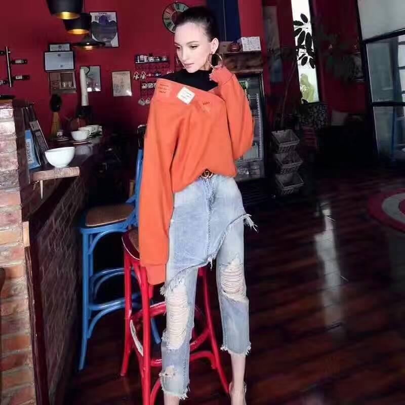 Mode Haute Ami Les Pantalon Jeans Pour Jeans Déchiré Incroyable 2017 Unique Denim Femmes Femmes Taille Casual 7ZcYUIxqn