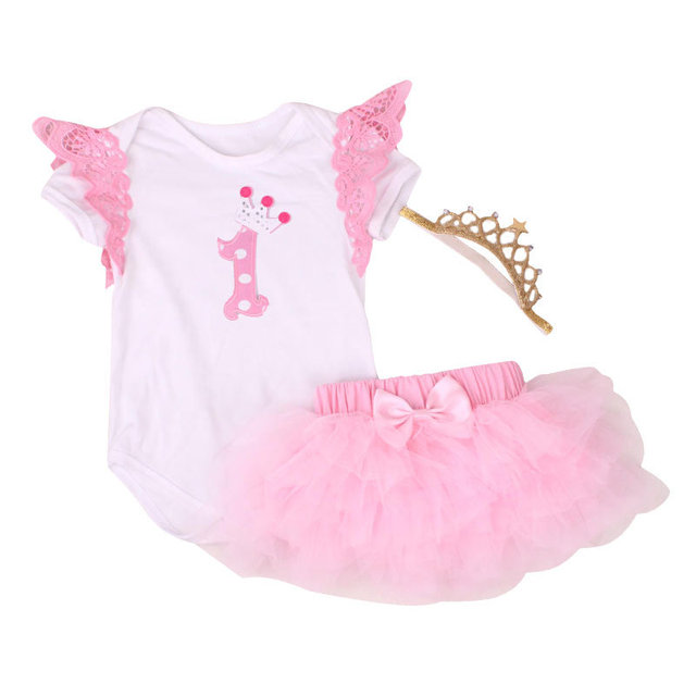 faf38084803 New Birthday Baby Costumes Cloth Infant Toddler Baby Girls My First  Birthday Outfits Newborn Tutu Romper Set Infant Clothing