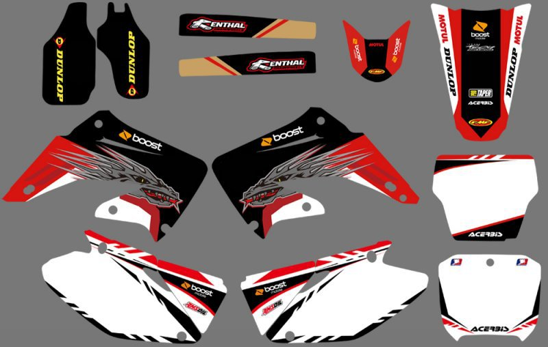 Honda CR 125 CR 250 2002-2013 GRAPHICS STICKERS KIT