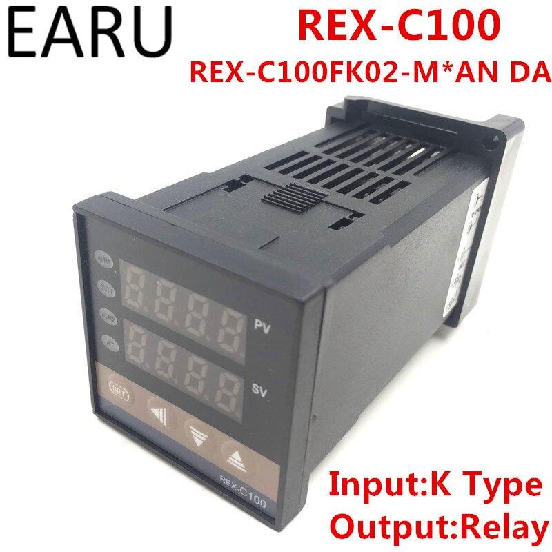 REX-C100 rex-c100fk02-m * DA цифровой pid Контроль температуры Управление; термостат реле Выход K Тип Вход AC110-240V