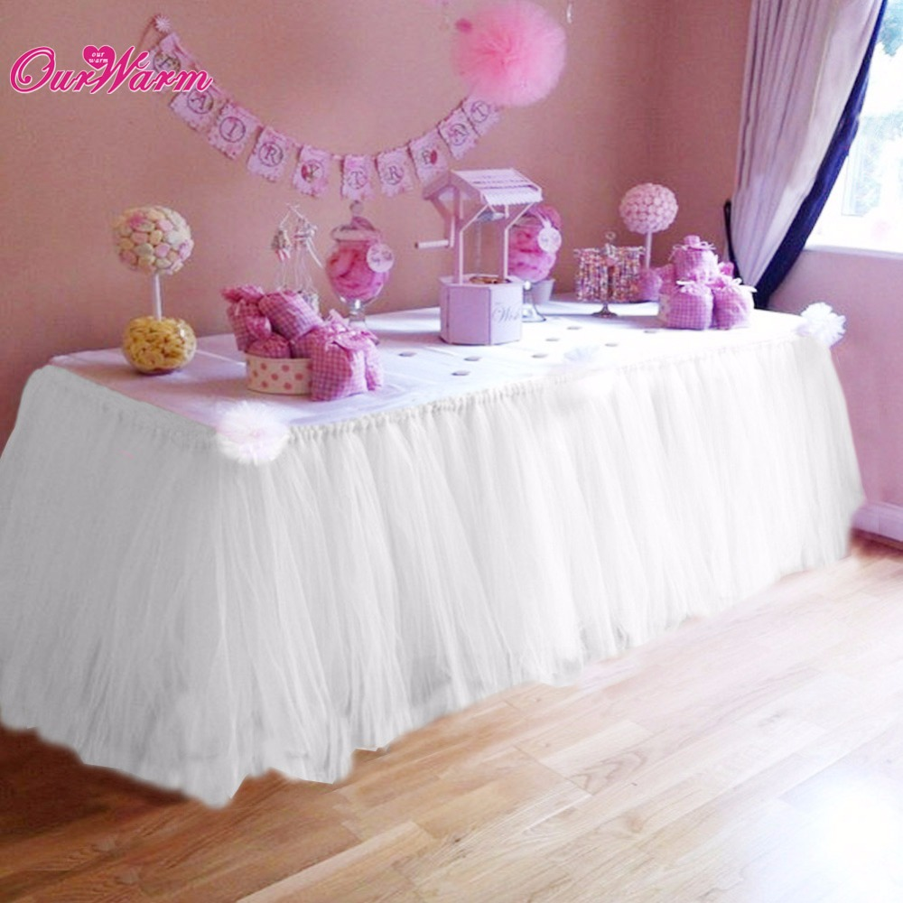 5pcs / lot הרבה טול TUTU שולחן חצאית טולה כלי - טקסטיל בית