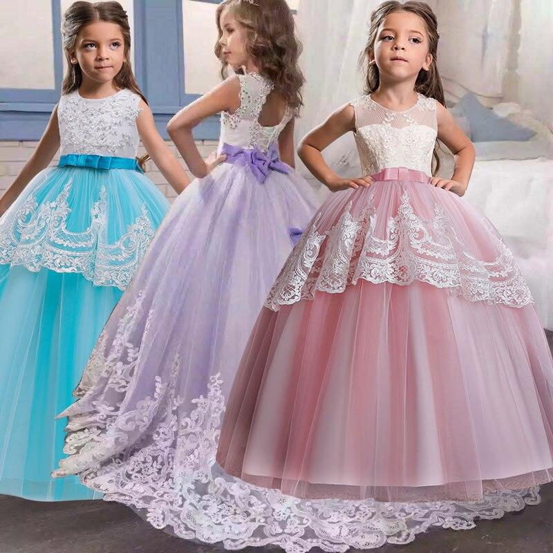 75834e75bea2 Cheap Vestido bordado mariposa para niñas elegante princesa flor niñas boda  cumpleaños fiesta niños vestidos para
