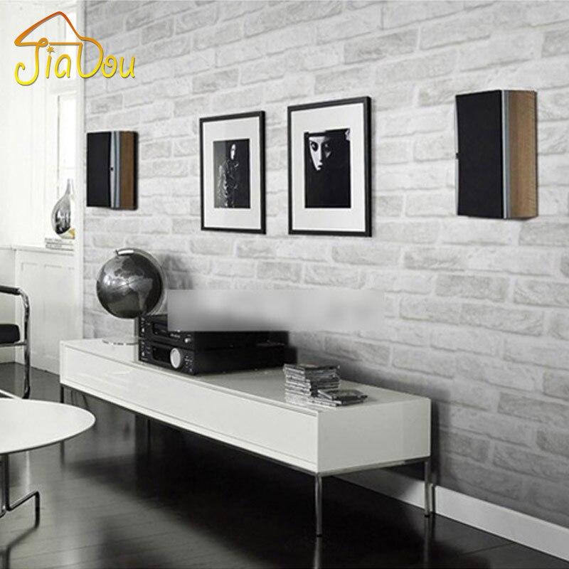 Geprägte 3D Mauer Papier Moderne Vintage Ziegel Stein Muster Papier  Tapetenbahn Für Wohnzimmer Wandverkleidung Decor