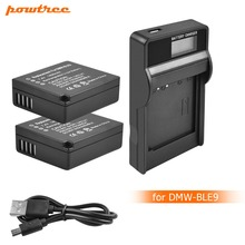 2X DMW-BLE9 DMW-BLG10 BLG10 BP-DC15 BPDC15 DMW BLE9 BLE9E Battery+LED charger For Panasonic Lumix GF6,GX7,GX80,GX85, Mark II L10 tectra 4pcs dmw blg10 dmw ble9 bp dc15 bateria usb dual charger with ac adaptor for panasonic lumix gf5 gf6 gx7 lx100 gx80