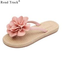 Road Track Woman Beach Flowers Flip Flops Summer Sandals Slip-Resistant  Women slippers Platform Sandals Summer Sandals XWA1490-5 3168881d1909
