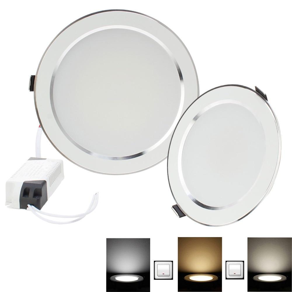 LED Ceiling Panel Down Light Warm//cool white Lamp 3W 5W 7W 9W 12W 15W 110V 220V
