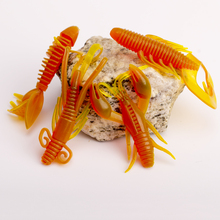 4pcs soft sea fishing lure carp fishing tackle jig wobbler swivel rubber lure fishing kit silicone bait protein soft worm shrimp