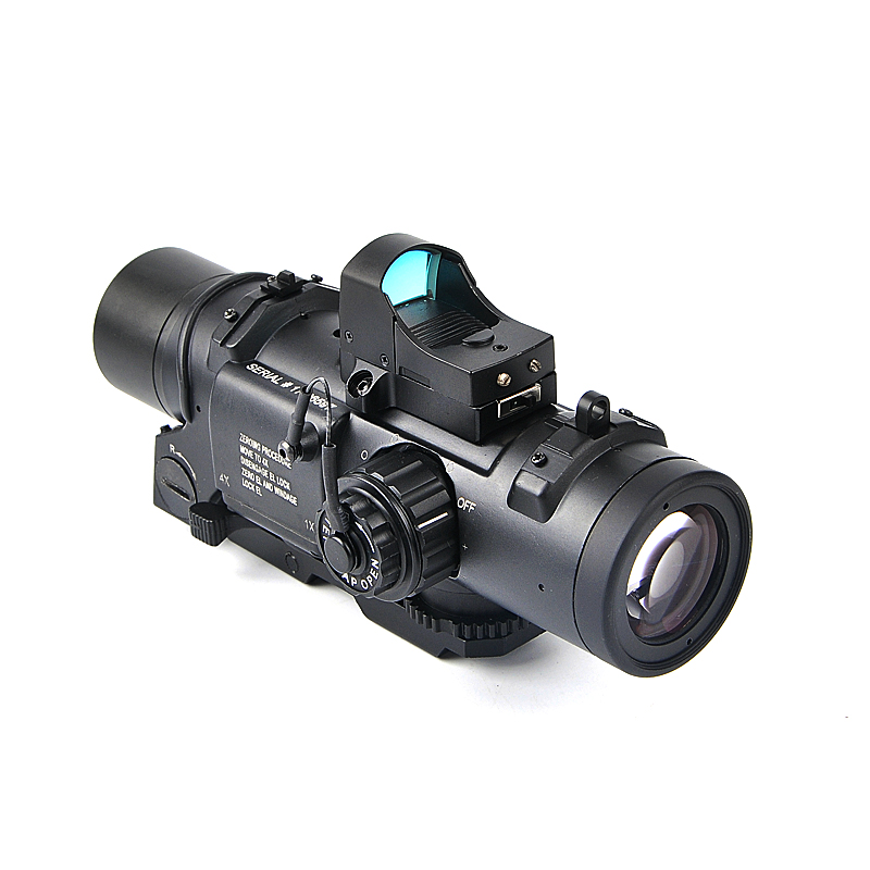 Tactical 1x-4x Fixed Dual Purpose Scope With Mini Red Dot Sight Scope Hunting Optics Riflescope for Airsoft Air Guns Caza 1set tactical green dot mini red laser sight with tail switch scope pistol with lengthen rat tail hunting optics new arrival