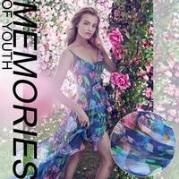 Digital Printing And Dyeing Silk Natural Chiffon Fabric For Dress Summer Bright Cloth Tissu Au Meter