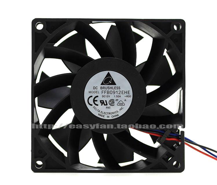 Delta FFB0912EHE R00 DC 12V 1.5A 90x90x38mm Server Square fan