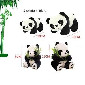 Image 5 - 1PC 9 16cm belle mignon Super peluche Animal doux Panda en peluche jouet anniversaire noël bébé cadeaux présents jouets en peluche pour les enfants