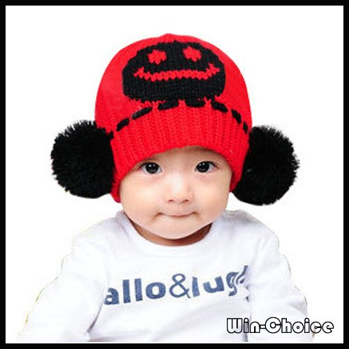 Wholesale 25pcs lot A-Quality Cute Baby Beanies  Winter Hat  Knitted Hat  with 2 balls 2432aaf81b30
