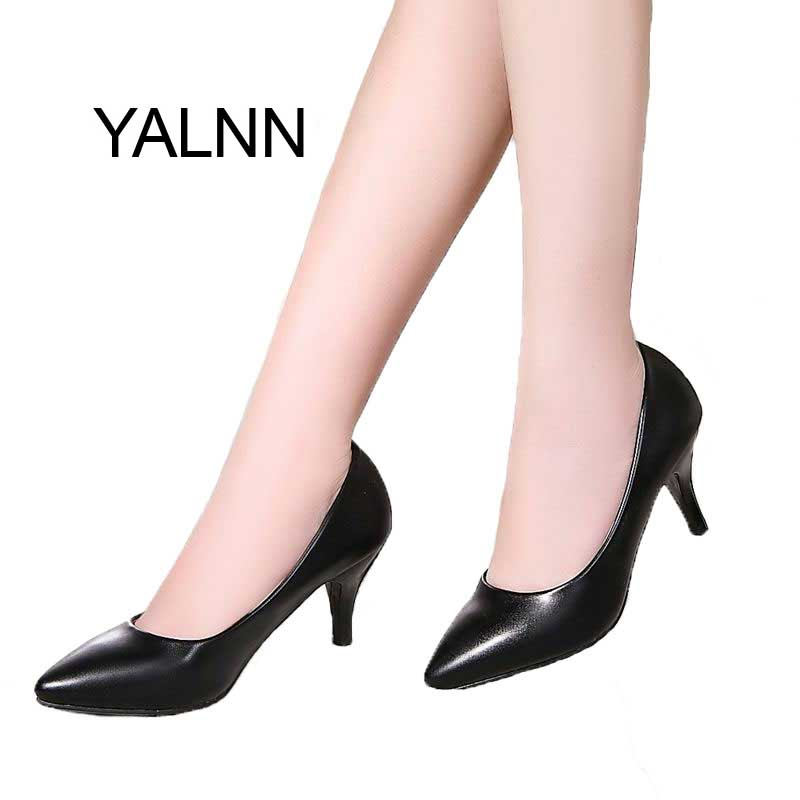 YALNN Office Lady Women High Heels Shoes Womens Pumps Bride Show Thin Heel Pointed Toe H ...