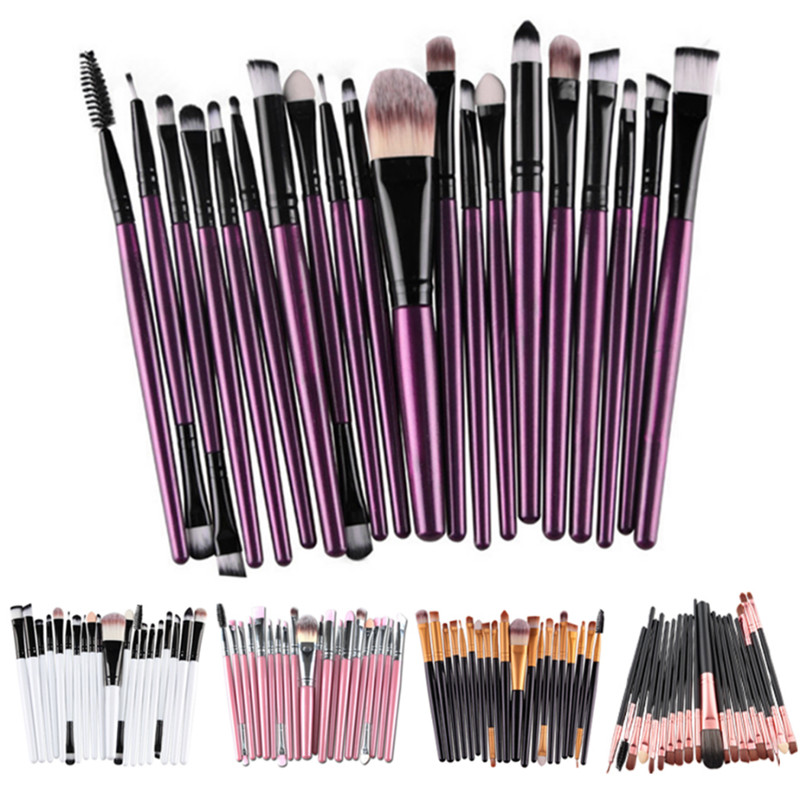 20 Pcs/Set Makeup Brushes Set Eye Shadow Foundation Eyebrow Powder Lip Brush Professional Makeup Brushes Cosmetic Tool