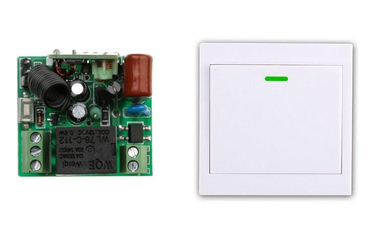 Новый AC 220 В 1CH беспроводной переключатель системы дистанционного управления приемник + настенная панель дистанционного передатчика липкий пульт дистанционного управления умный дом переключатель