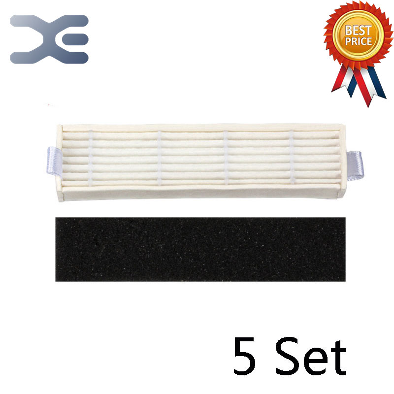 5Set For Ecovacs D36A Sweeper Accessories HEPA Filter Vacuum Cleaner Parts 36 5
