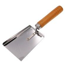 DLKKLB практичный Пчеловодство из нержавеющей стали лопата с деревянной ручкой скребок Инструмент для улей рамки эксклюзивные чистящие средства