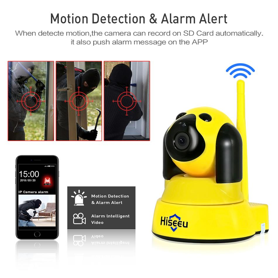 Image 4 - hiseeu Home Security IP Camera Wi Fi Wireless Smart Pet Dog wifi Camera video Surveillance 720P Night CCTV Indoor Baby Monitor-in Surveillance Cameras from Security & Protection
